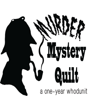Murder mystery quilt logo square